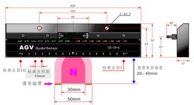 磁钉导航传感器