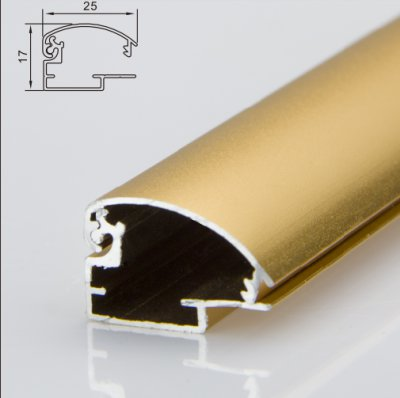 25mm arc shaped light box profile