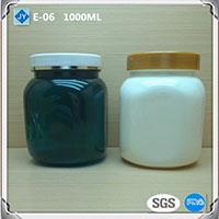 1000ml 32oz large Square Wholesale pet Plastic Jars