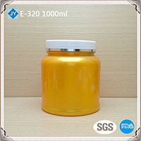 1000ml 32oz large colored round plastic jar