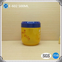 500ml 16oz Round Shape Plastic Material pet jar