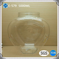5000ml 160oz heart shaped plastic jar