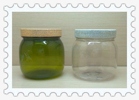 500ml 16oz pet plastic round jars