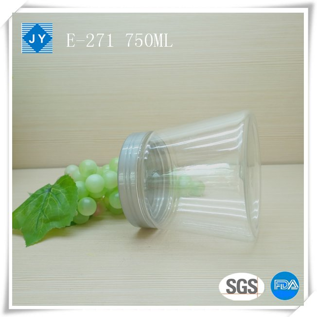 750ml 25oz large clear plastic jar