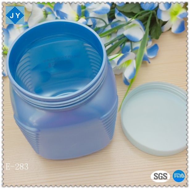 1000ml 32oz large square plastic jar