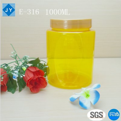 1000ml 33oz pet plastic jar