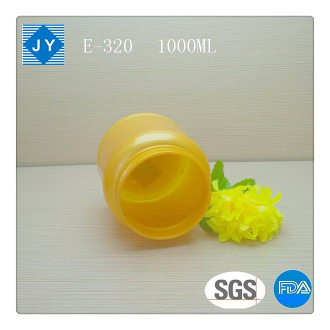 1000ml 32oz large colored round plastic jar