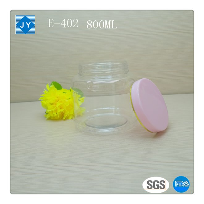 800ml Screw Cap Sealing Type pet plastic jar