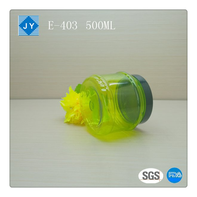 500ml Screw Cap Sealing Type Aluminum cap plastic jar