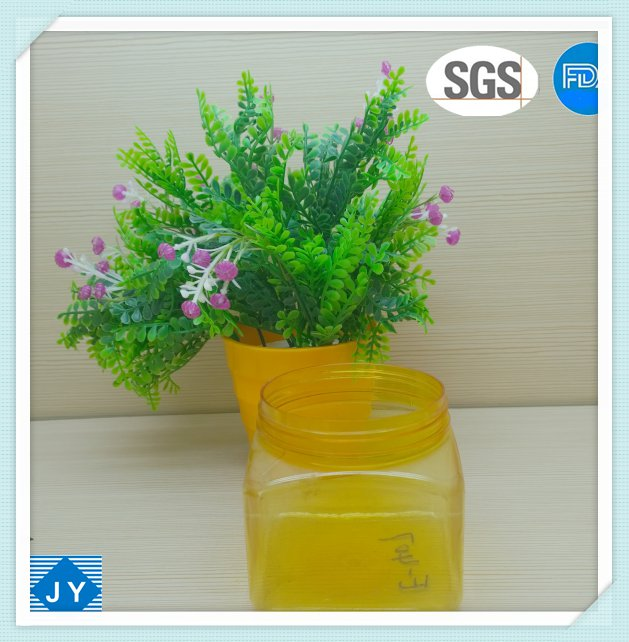 500ml 16oz large PET square plastic jar