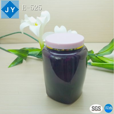 32oz 1000ml clear cosmetic plastic square jar