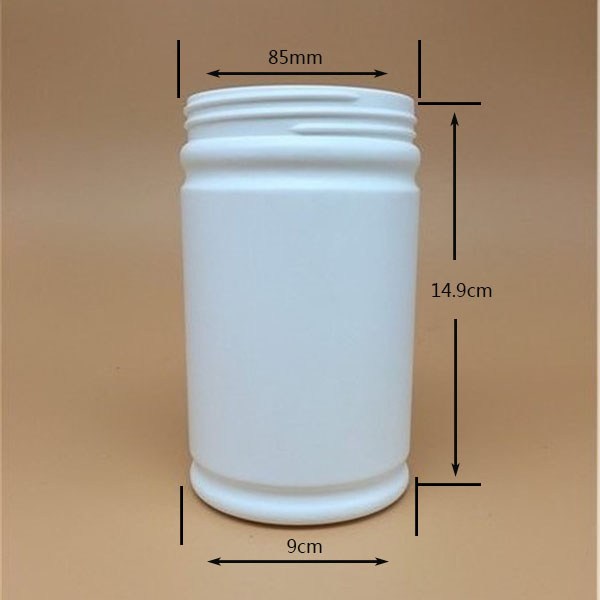 750cc bottle pharmaceutical HDPE round plastic medicine bottel