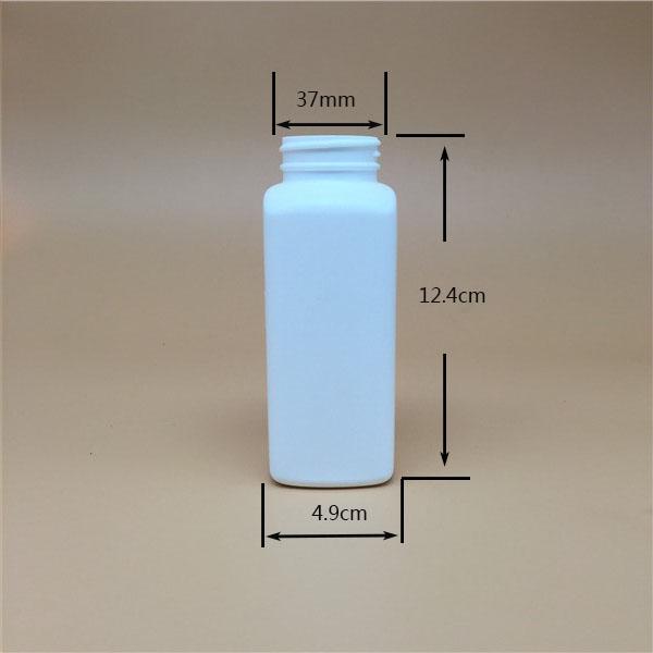 260cc 9oz pharmaceutical use bottle HDPE square plastic bottle, pill bottle