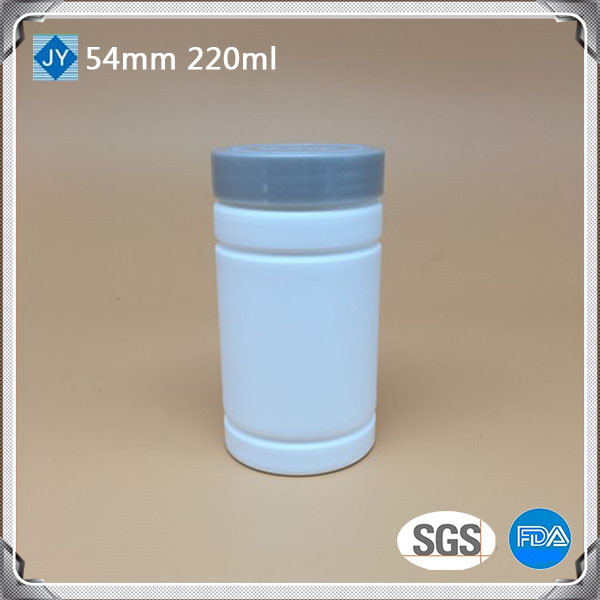 220cc bottle pharmaceutical HDPE round plastic medicine bottel