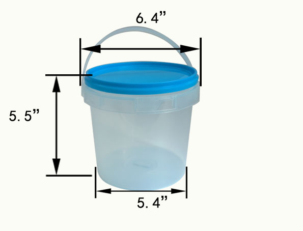 2000ml great sealing bucket container