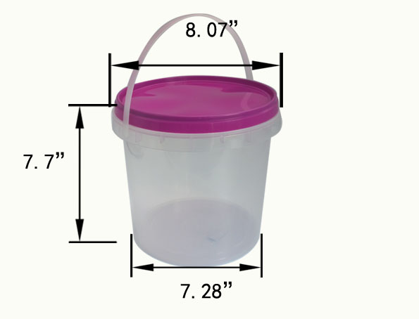 5000ml great sealing bucket container