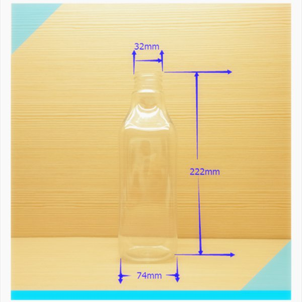 750ml 25oz square Plastic Material and Eco-Friendly BPA free bottle, PET bottle