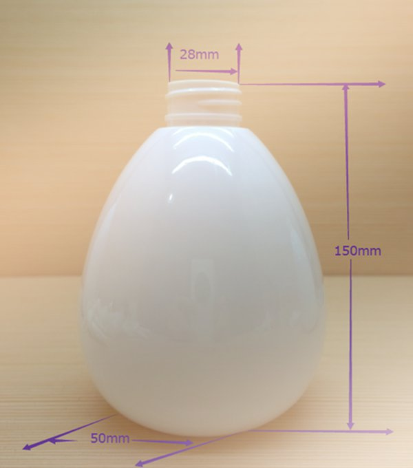 480ml 16oz large colorful egg shaped plastic bottles