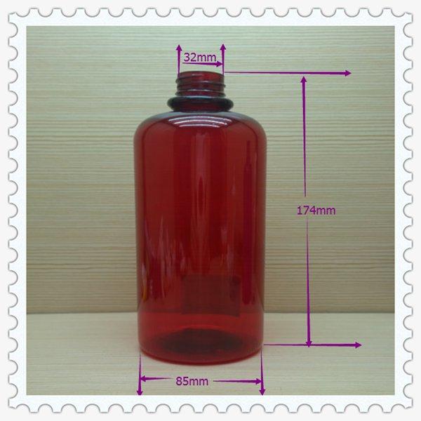 800ml 26oz colored fashion boston round plastic bottle