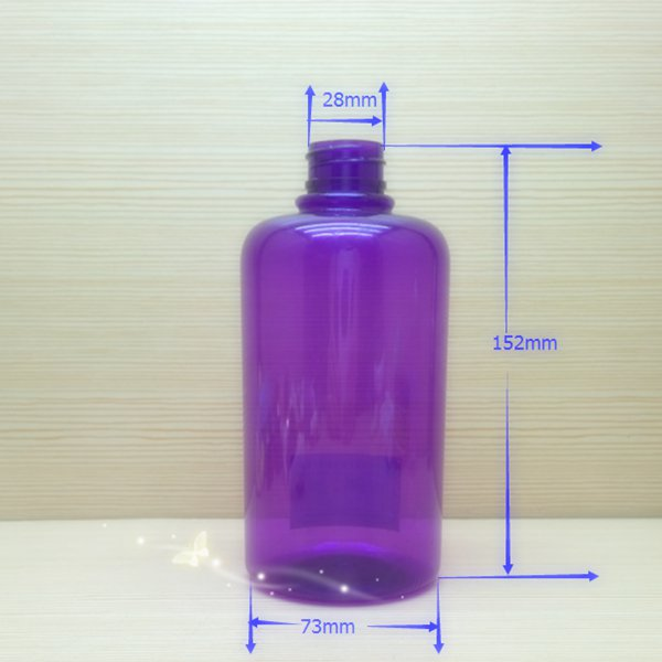480ml 16oz round plastic bottle