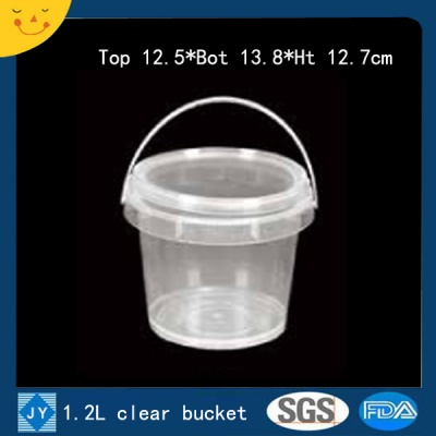 1.2L clear plastic bucket