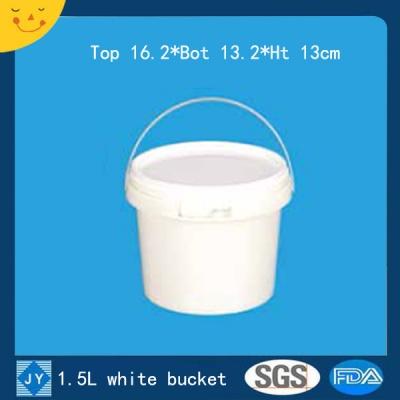 1.5L white plastic bucket