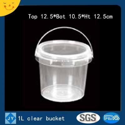 1L clear plastic bucket