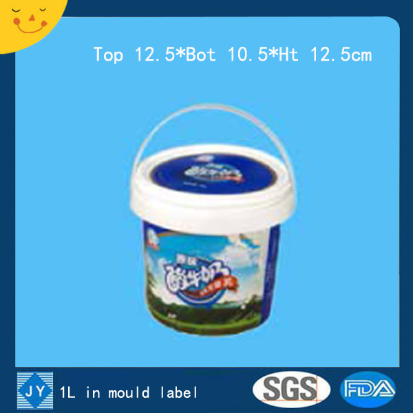 1L in mould label plastic bucket