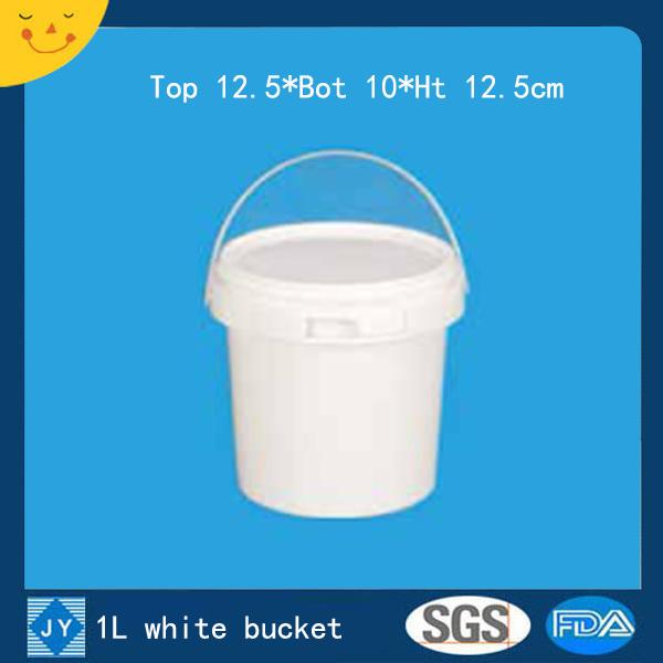 1L white plastic bucket