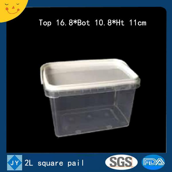 2L sqaure plastic pail