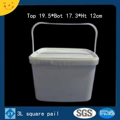 3L sqaure plastic pail