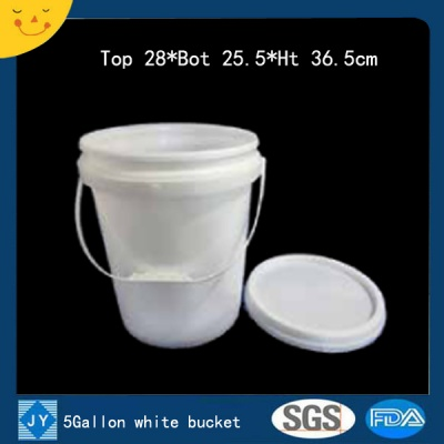 5Gallon white plastic bucket