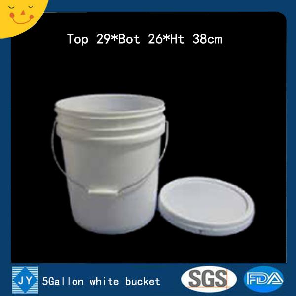 5Gallon white plastic bucket