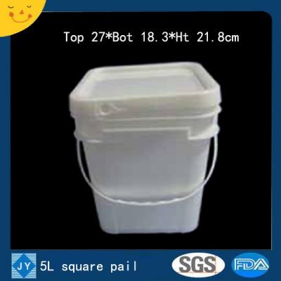 5L sqaure plastic pail