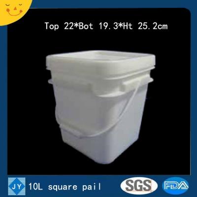 10L sqaure plastic pail