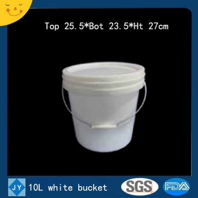 10L white plastic bucket