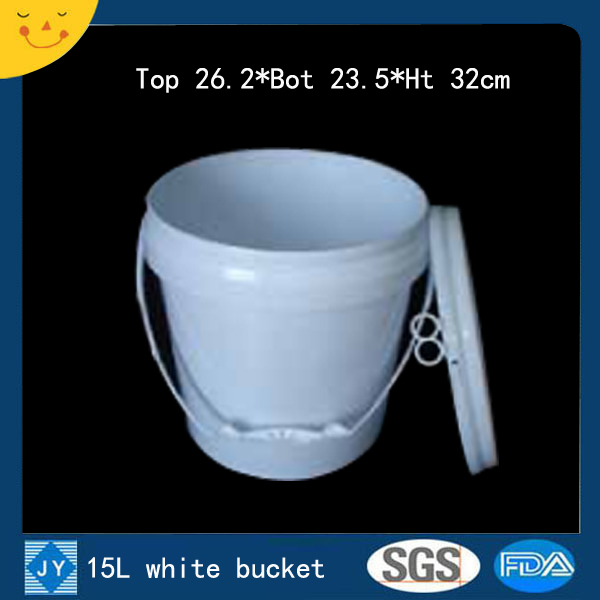 15L white plastic bucket