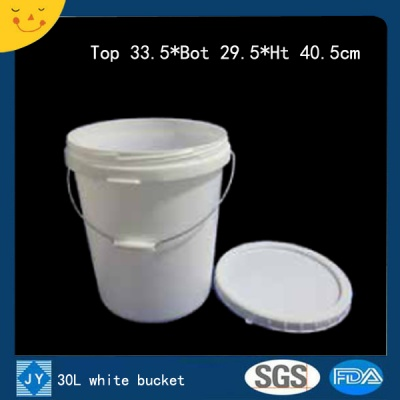 30L white plastic bucket