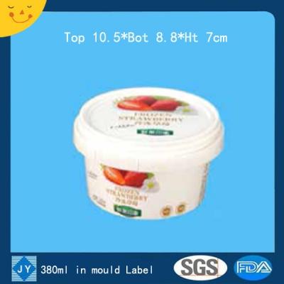 380ml in mould label plastic bucket