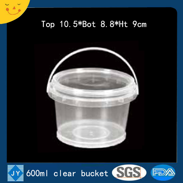 600ml clear plastic bucket
