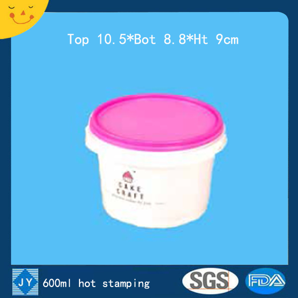600ml hot stamping plastic bucket