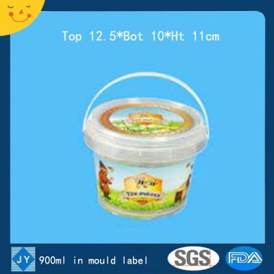 900ml in mould label plastic bucket