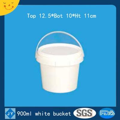 900ml white plastic bucket