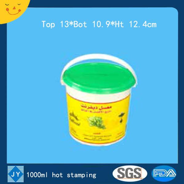1000ml hot stamping plastic bucket