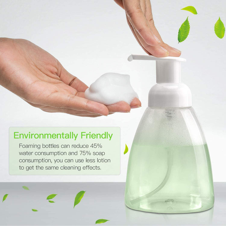 270ml 9 oz Empty Liquid Foaming Hand Sanitizer Dispensers Foam Plastic Press Pump Bottles