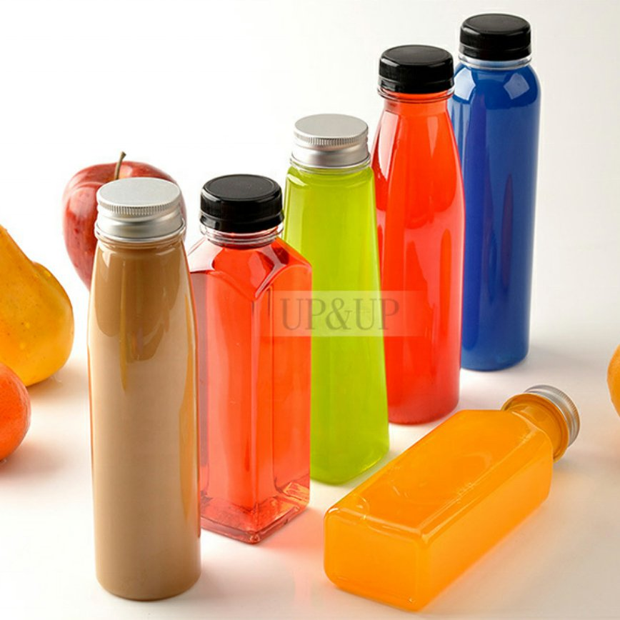 Reusable Clear Disposable Milk Bulk Containers with Tamper Evident Caps Lids