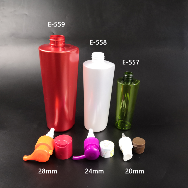 Plastic unique Bottle for Body Washing Lotion / Hair Shampoo Bottles