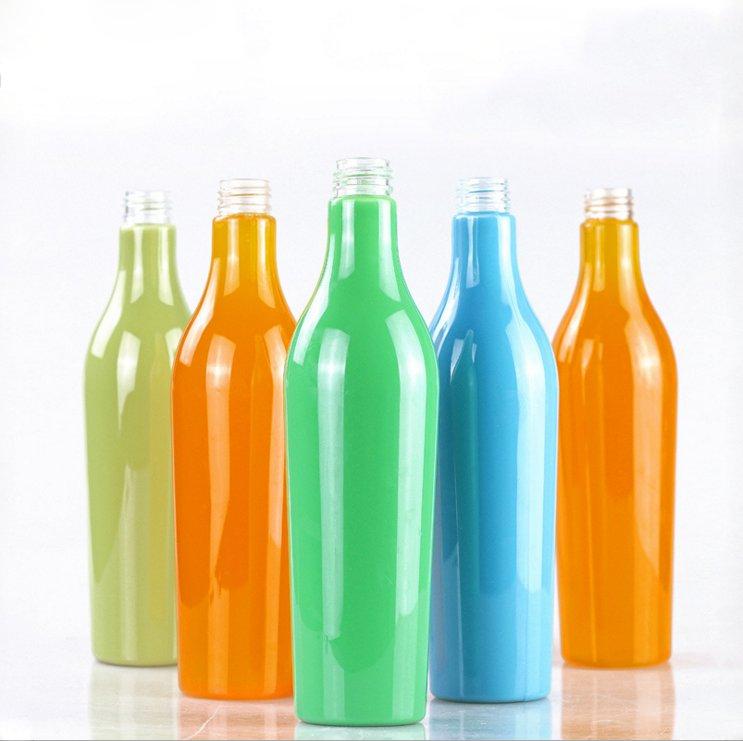 Plastic Food Grade ball shape sphere Beverage PET juice Bottle with PP cap