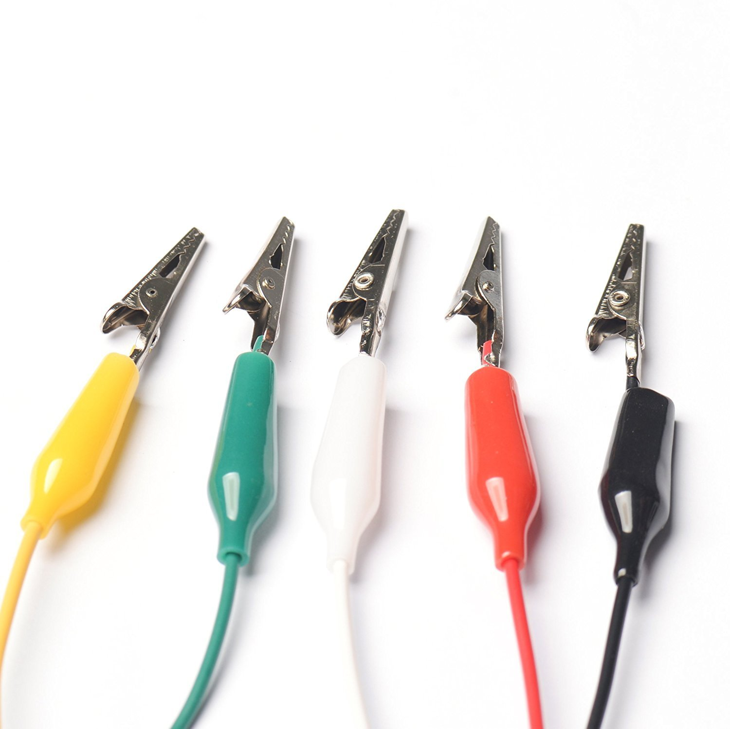 10PCS Small Size Alligator Clip Wire Alligator Clip Cable Five Colors Length 50CM