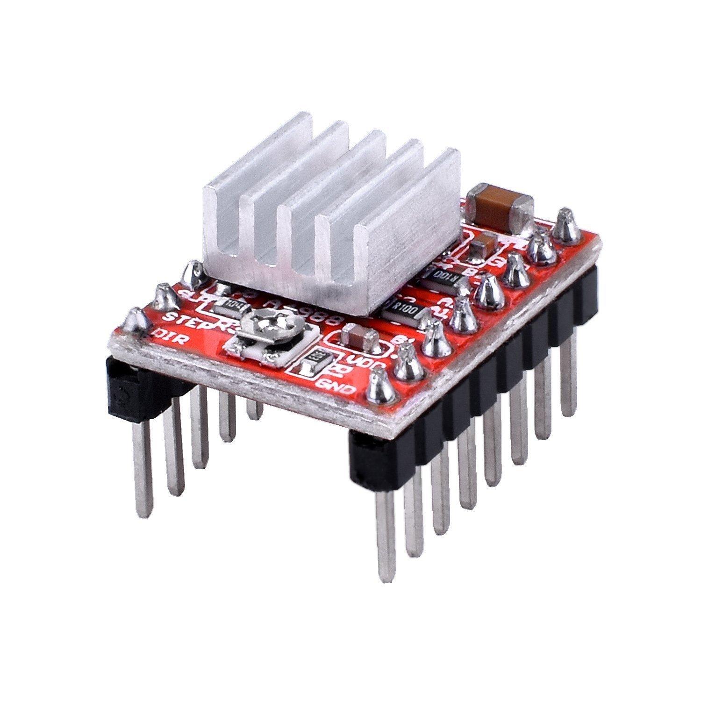 A4988 Stepstick Stepper Motor Driver Module + Heat Sink for 3d Printer Reprap